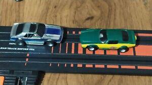 Vintage slot car ho Tyco Lili ledy raro Lot. Of 2 cars