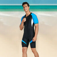 Surfing Neoprene Men's Back Zip Shorty Wetsuit Scuba Diving Suit Rash Guard