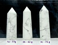 White Howlite Point Tower Wand - Calming, Insomnia, Meditation, Immune System