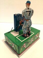 1960'S ALL STARS MR. BASEBALL JR. MICKEY MANTLE MECHANICAL GAME TIN TOY IN BOX