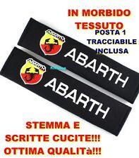 Coppia Copri Cintura di Sicurezza Fiat Abarth 124 500 695 Punto Fregio logo evo