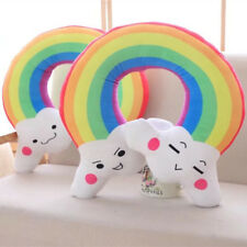 plush toy funny expressions cloud rainbow U shape pillow sofa cushion gift 1pc