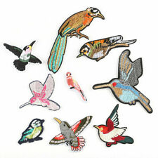 9pcs Mixed Lot Birds Embroidery Iron on Patch Sticker Clothes Applique Badge Set