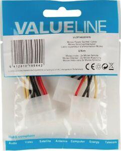 VALUELINE MOLEX POWER SPLITTER CABLE VALUE LINE