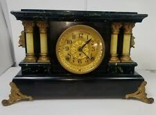 Clock Seth Thomas Antique Mantel Mantle Adamantine Shelf Chime S 1910's Serviced