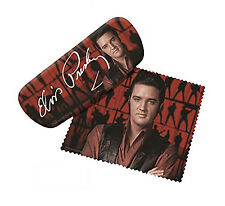 Spoontiques Padded Elvis Presley Eye Glass Case with Matching Lens Cloth