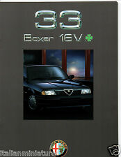 Alfa Romeo 33 Boxer 16v QV Green Cloverleaf Italian Language Brochure 1991