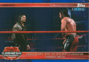 WWE Champions 2019 #28 Roman Reigns Blue Parallel 055/100