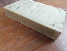 PELOUZE & FREMY / TRAITE DE CHIMIE GENERALE 2e Edition TOME 3 seul MASSON 1854