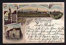 100689 AK Offenburg Baden Litho 1897 Rathaus Schloss Ortenburg