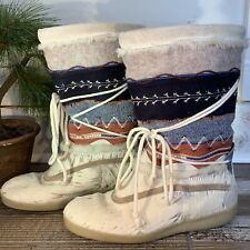 TECNICA Tribal Fur Snow Boots Wool Lined Italy Mid Calf Shoes Skandia 41