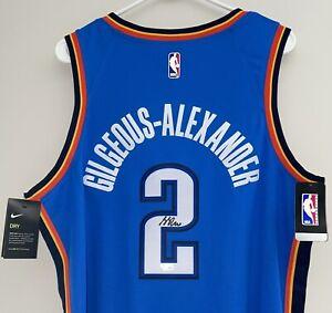 Shai Gilgeous-Alexander Autograph Nike NBA Signed Swingman Jersey (52) FANATICS