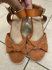 Old Navy Knotted Faux-Suede Wedge Sandals - Women's Size 7 -Used