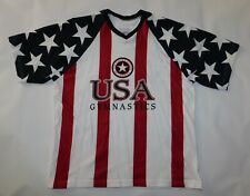 Vintage 1990s TEAM USA GYMNASTICS Olympics American Flag Unworn T SHIRT Men's M