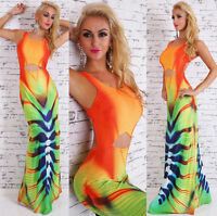 Women's Summer open back maxi Dress with Padded Bust One Size UK 8/10/12