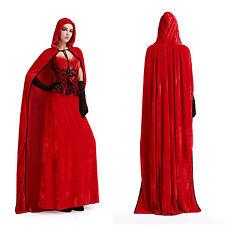 Damen*Halloween*Karneval*Kostüm Märchen Rotkäppchen Cosplay Kleid Outfit