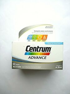 CENTRUM ADVANCE MULTIVITAMIN A TO ZINC 60 TABLETS (8160)