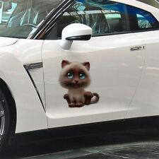 15*18cm Funny Body Car Sticker Animal 3D Cartoon Lovely Cat Car Stickers Decals
