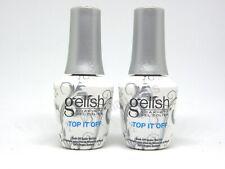 Harmony Gelish UV Soak Off Gel TOP IT OFF 0.5 fl oz 15ml Top Coat (2 PACK)