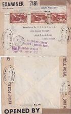 Senegal 1941 Censored cover from Dakar to Oakland, California. {See Below}