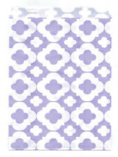 25 Pcs Light Purple Flower Pattern 5x7 Print Paper Gift Bags Favor Candy Shop
