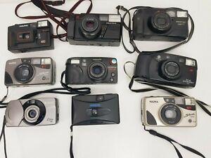 Joblot of 35mm Film Cameras-Canon+Minolta+Pentax+Olympus+Halina