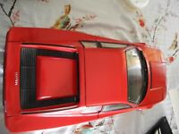RARE Vintage Pocher 1:8 Scale Ferrari Testarossa Spider (RED) - Model Car (Built