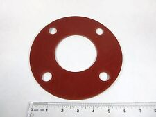 "3"" X 1/8"" Red Rubber FULL FACE Water Meter/Fitting Flange Gasket, NEW"
