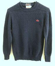 432f83134 Vtg 70s IZOD Lacoste Navy Blue Crewneck Alligator Wool Sweater Sz Kids  Youth 18