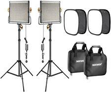 Neewer 2-Pack 480 LED Video Light Lighting Kit: Dimmable Bi-color LED Panel...