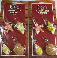 8 Pc.Set Assorted Sea Shell Tablecloth Weights Secure Tablecloth From Breezes