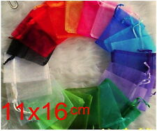 10pcs 11x16cm Pure mix Christmas Jewlery packing Wedding Organza voile gift bags