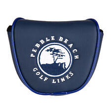 1pc Blue PU Pebble Beach Golf Mallet Putter Head Cover with Magnetic Closure