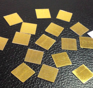 100 Mosaic 11mm Square Plastic Shisha Mirrors GOLD for Embroidery Quilting Craft