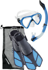 Cressi Bonette Fin, Snorkel, Mask Set - Blue and Purple available