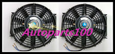 Universal Two 9 inch 12V volt Electric Cooling Fan Thermo Fan + Mounting kits