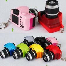 DSLR Camera Pendant Keyring Keychain LED Sound Mini Camera Handbag Charm