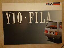 BROCHURE DEPLIANT LANCIA AUTOBIANCHI Y10 FILA 1987 ITALIANO RARO 4 PAG