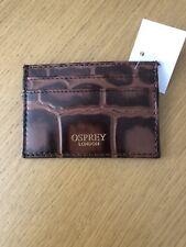 OSPREY BROWN LEATHER  CARD HOLDER... BNWT rrp £45