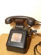 1945 Antique Vintage Siemens Heavy Desk Phone Telephone Bakelite Rotary Dial
