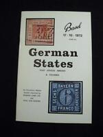 ROBSON LOWE BASEL AUCTION CATALOGUE 1972 GERMAN STATES POST OFFICES ABROAD