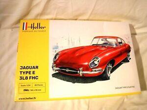 1/24 Heller British Jaguar Type E 3L8 FHC Sports Coupe 1961 # 80709