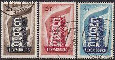 Luxenburgo 1956 Europa Set Sg 609-11 Usado
