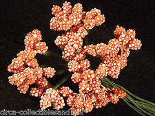 Stamens Composition Beaded Berries Orange Floral Flower Wedding Millinery Dolls
