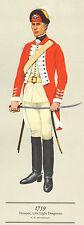 VINTAGE MILITARY CAVALRY UNIFORM PRINT ~ 1759 ~ TROOPER ~ 17th LIGHT DRAGOONS