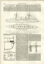 1889 Italian Cruiser Piemonte Some Particulars
