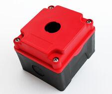 PUSH BUTTON BOX HI STRENGTH PBT PLASTIC 1 HOLE RED 2028