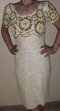 Vintage Cocktail Dress Gene Shelly's Boutique International Sequin Beaded Sz 12