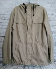 Divided H&M Tan Hooded Utility Jacket Medium