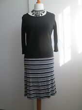 Black & White Winter Weight Jersey Dress from Betty Barclay, Size 12